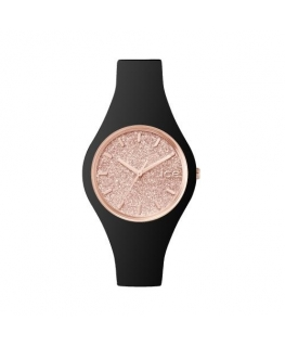 Ice-watch Ice glitter - black rose-gold - small
