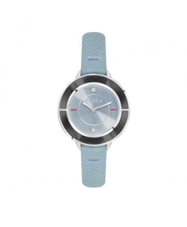 Furla Club 34mm 2h blue dial blue strap