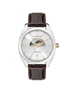 Lucien Rochat Lunel 41mm auto 3h silver dial brown st