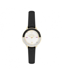 Furla Club 26mm 2h white dial black strap