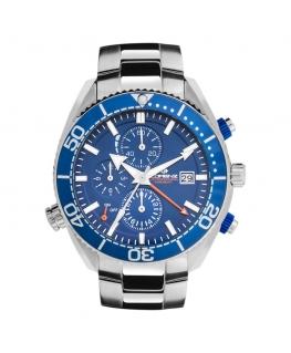Orologio Lorenz Dive 300 mt uomo acciaio / blu