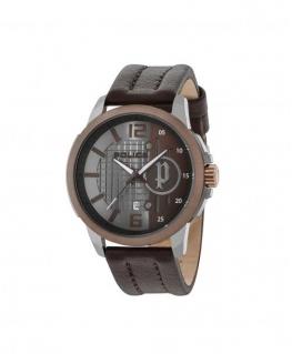 Police Squad 3h grey dial dark brown strap