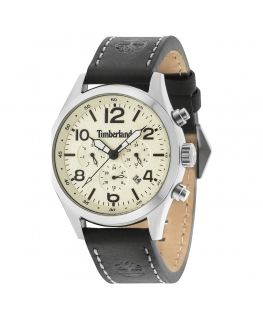 Timberland Ashmont 6h beige dial black strap