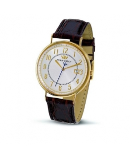 Philip Watch C capsulette 3h 40mm sil/wh d/brown st