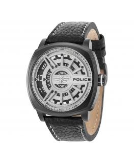 Police Speed head 3h white dial black strap