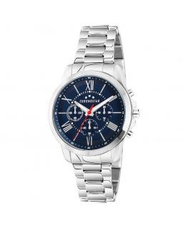 Chronostar Sporty 44mm multi blue dial br ss