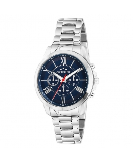 Chronostar Sporty 44mm multi blue dial br ss