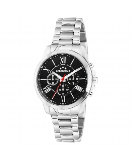 Chronostar Sporty 44mm multi black dial br ss