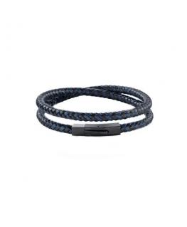 Morellato Moody br. ip blk. blu&blk leather 430mm