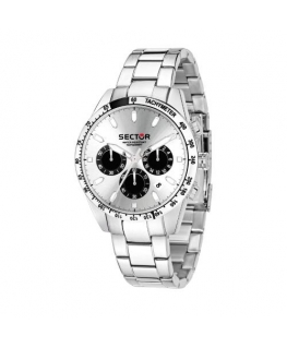 Sector 245 41mm chr silver dial ss br