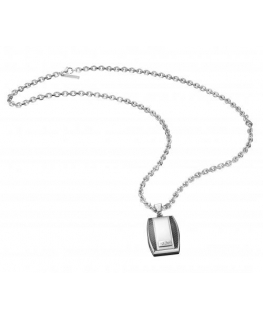Police Player pend. p rectangular charm