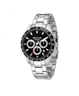 Sector 245 41mm chr black dial ss br