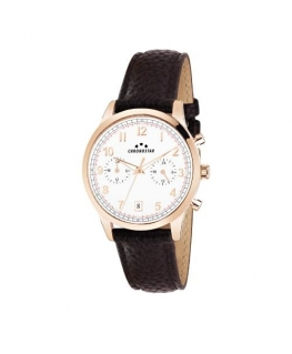 Chronostar Romeow 40mm multi white dial brown st