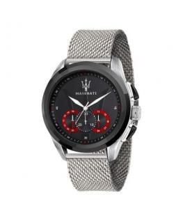 Maserati Traguardo 45mm chr black dial ss mesh