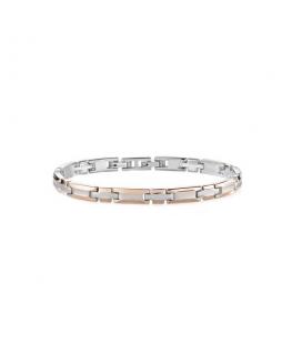 Morellato Cross bracelet ss+ip rg 215mm