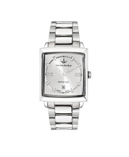 Lucien Rochat Kron 35x30mm 3h silver dial ss br