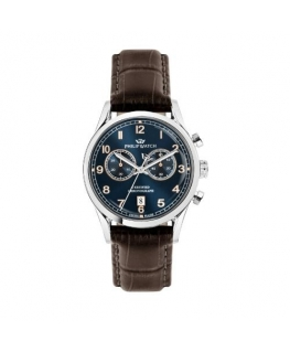 Philip Watch Sunray 39mm chro blue dial brown st