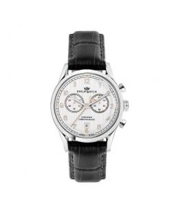 Philip Watch Sunray 39mm chro silver dial black st