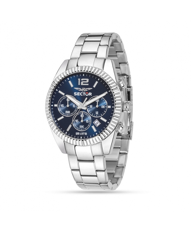 Sector 240 chrono 41mm blue dial br ss - galleria 1
