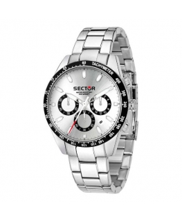 Sector 245 41mm chr white dial ss br
