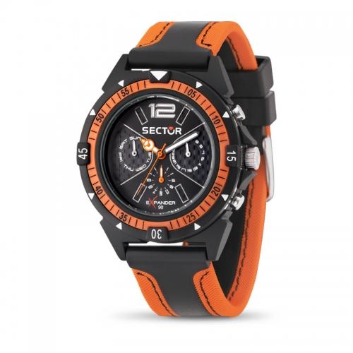 Orologio Sector Expander uomo arancione / nero uomo R3251197021
