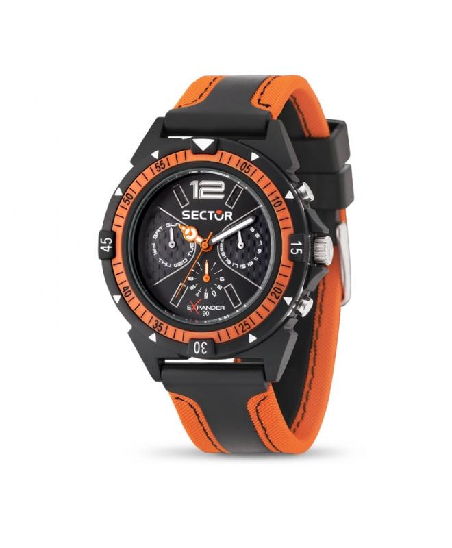Orologio Sector Expander uomo arancione / nero - galleria 1