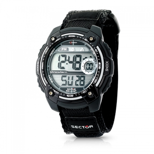 Sector Street digital black strap