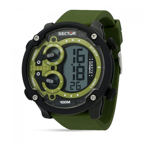 Sector Ex-20 52mm digital green strap