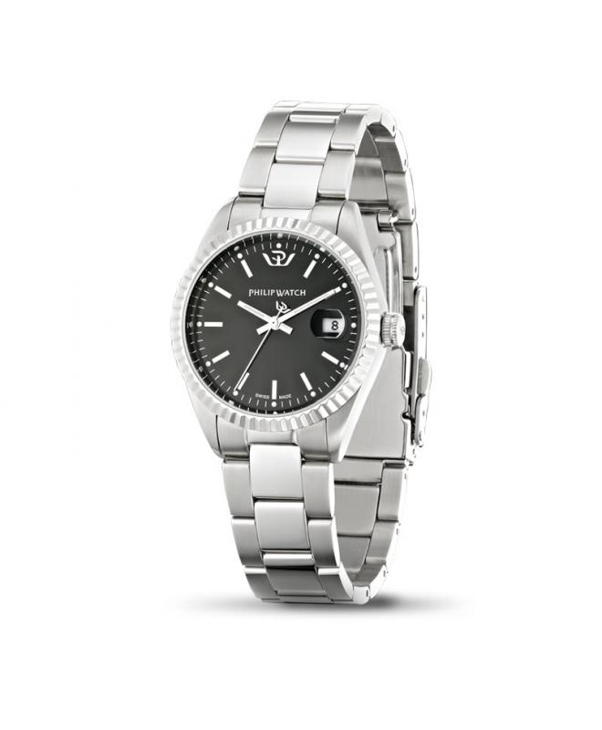 Philip Watch Caribe ext 3h black dial /bracelet donna - galleria 1