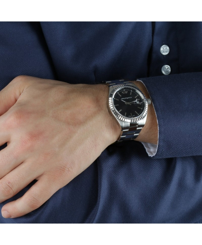 Philip Watch Caribe ext 3h black dial /bracelet donna - galleria 2