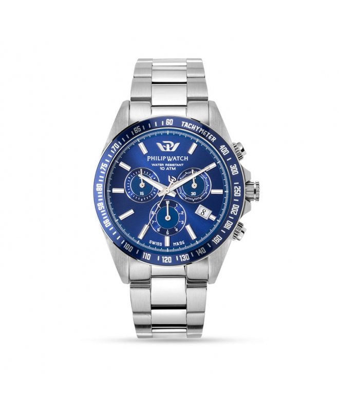Orologio Philip Watch uomo Caribe chrono blu uomo R8273607005 - galleria 1