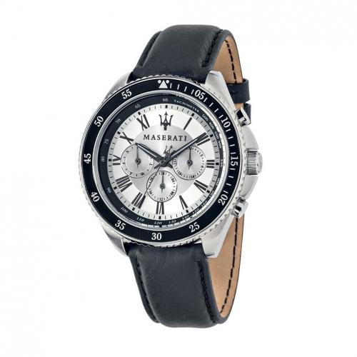 Orologio Maserati Stile uomo pelle / bianco uomo R8851101007