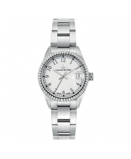 Lucien Rochat Reims lady 31mm 3h white dial ss br