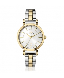 Lucien Rochat Giselle 34mm 3h silver dial ss+yg br