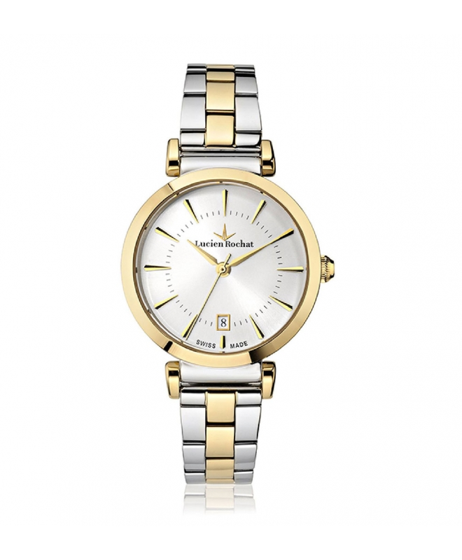 Lucien Rochat Giselle 34mm 3h silver dial ss+yg br - galleria 1