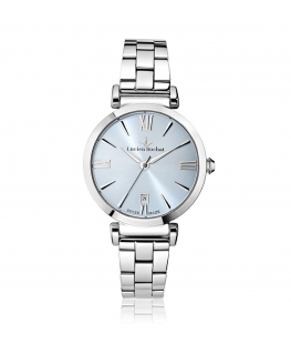 Lucien Rochat Giselle 34mm 3h light blue dial ss br
