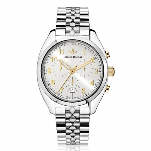 Lucien Rochat Lunel 41mm chr ivory dial br ss