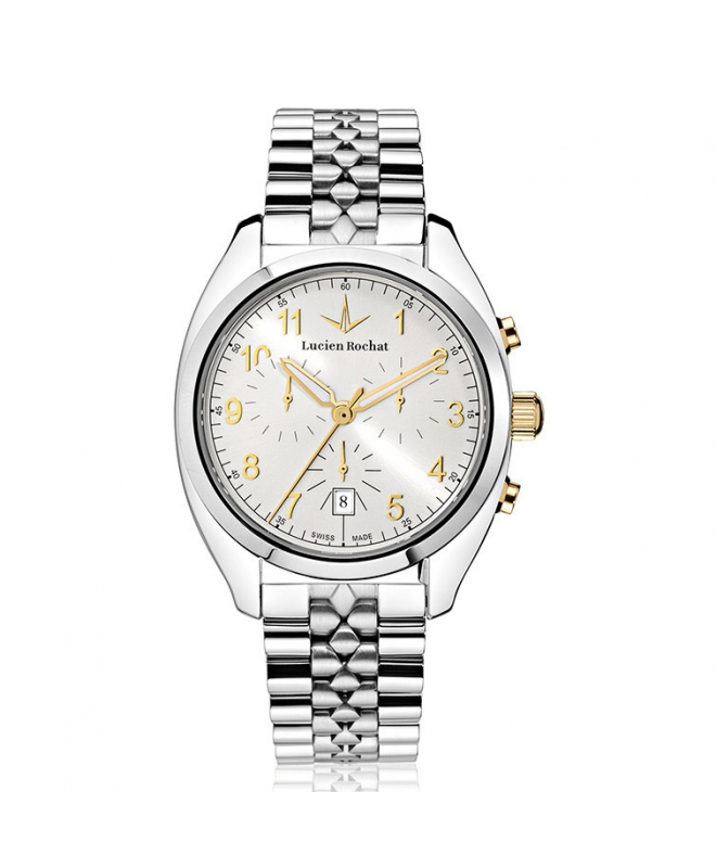 Lucien Rochat Lunel 41mm chr ivory dial br ss - galleria 1