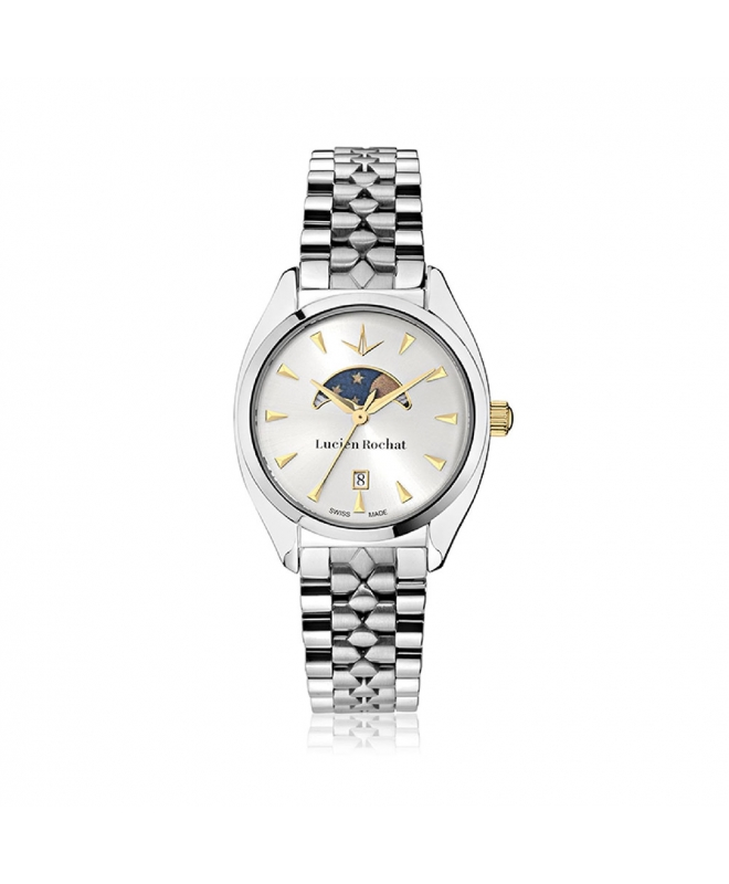 Lucien Rochat Lunel 32mm 3h w/silver dial br ss - galleria 1