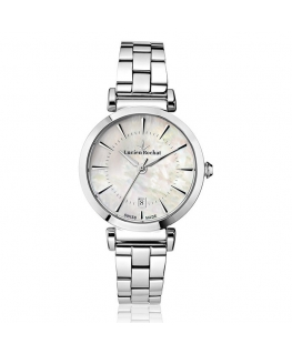 Lucien Rochat Giselle 34mm 3h white mop dial ss br