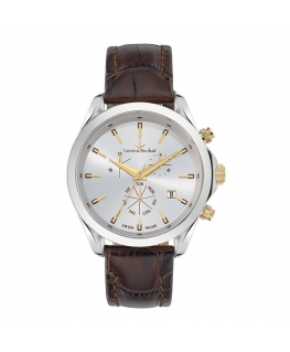 Lucien Rochat Montpellier 41mm chr silver dial brown s