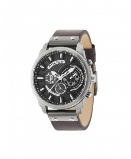 Police Leicester multi black dial d.brown strap