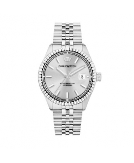 Philip Watch Caribe 41mm auto 3h silver dial ss br