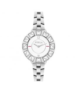 Furla Club 34mm 2h white dial ss br