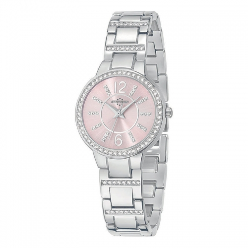 Chronostar Desiderio 3h 30mm l.pink dial br ss