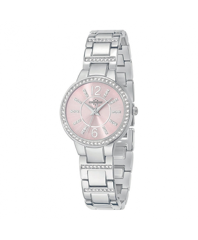 Chronostar Desiderio 3h 30mm l.pink dial br ss - galleria 1
