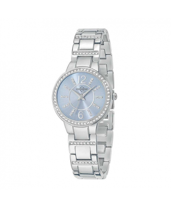 Chronostar Desiderio 3h 30mm l.blue dial br ss - galleria 1