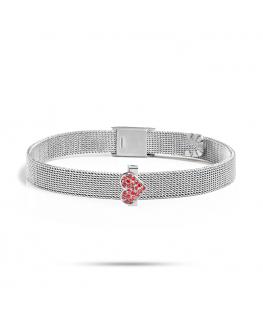 Bracciale Morellato Sensazioni cuore rosso - 20 cm