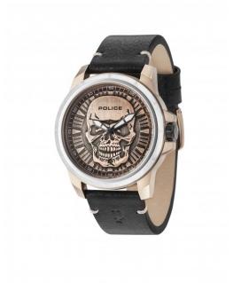Police Reaper 3h bronze dial black strap