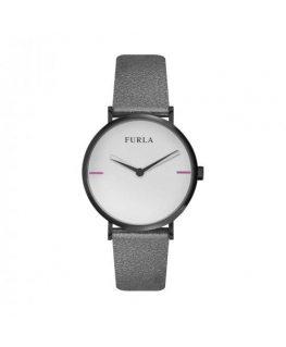 Furla Giada 33mm 2h gray dial black strap